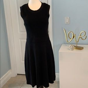 Michael Kors Women's Little Black Midi Dress L NEW